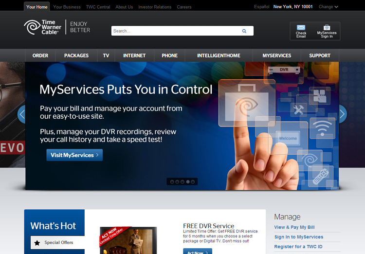 TWC - MyServices Promo Banner