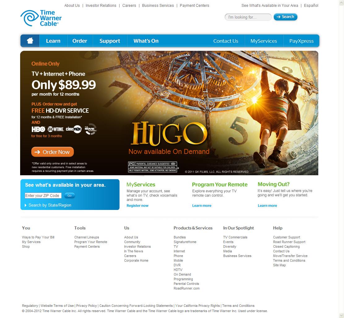 TWC - Triple Play Promo Banner (Hugo)